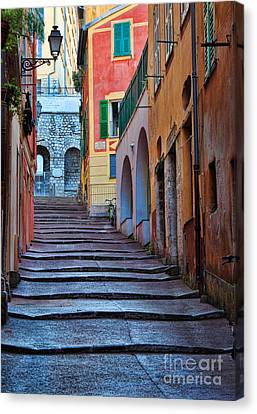 French Alley Canvas Print by Inge Johnsson