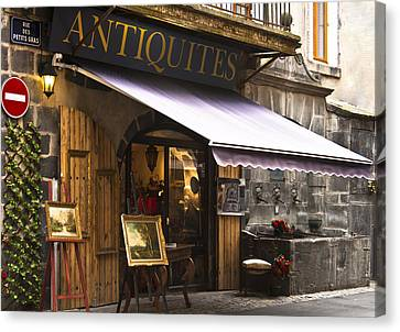 French Antique Store In Clermont Ferrand  Canvas Print