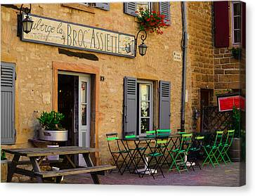 Canvas Print featuring the photograph French Auberge by Dany Lison