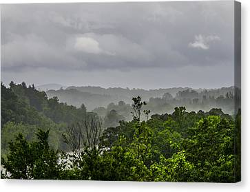 French Broad River Canvas Print by Carolyn Marshall