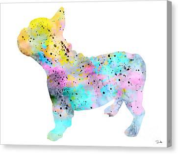 French Bulldog 4 Canvas Print by Lyubomir Kanelov