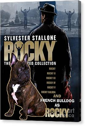French Bulldog Art - Rocky Movie Poster Canvas Print