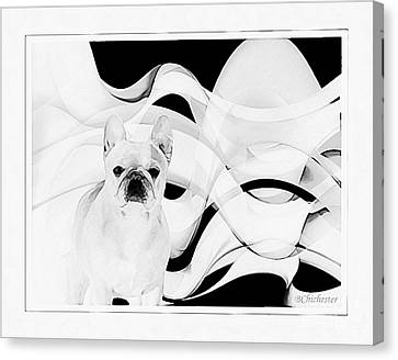 Canvas Print featuring the painting French Bulldog by Barbara Chichester