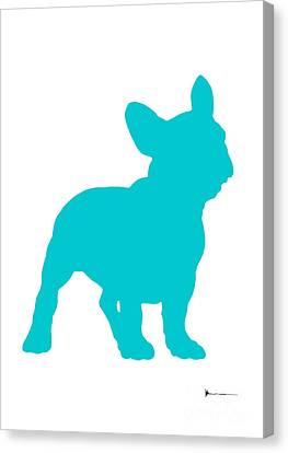 French Bulldog Figurine Art Print Painting Canvas Print