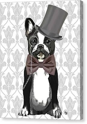 French Bulldog Monsieur Bulldog Canvas Print by Kelly McLaughlan