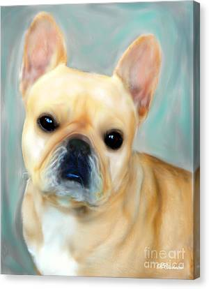 French Bulldog Mystique D'or Canvas Print by Barbara Chichester