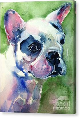 French Bulldog Painting Canvas Print by Maria's Watercolor