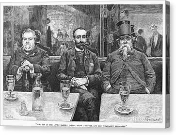 French CafÉ, 19th Century Canvas Print by Granger