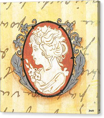 Jewels Canvas Print - French Cameo 2 by Debbie DeWitt