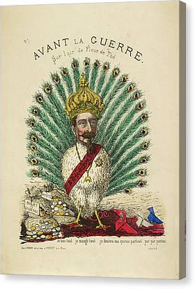 French Caricature - Avant La Guerre Canvas Print by British Library