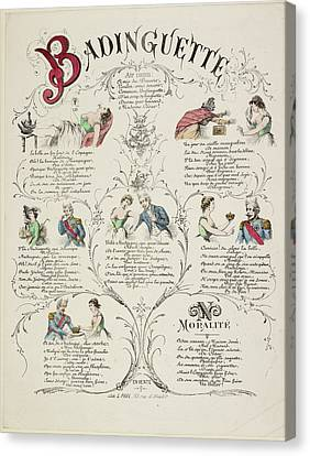 French Caricature - Badinguette Canvas Print by British Library