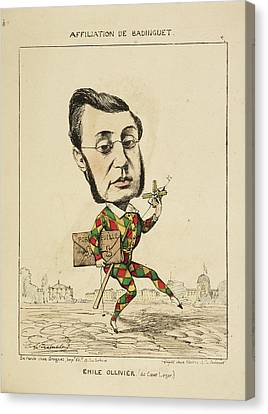 French Caricature - Emile Ollivier Canvas Print by British Library