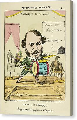 French Caricature - Fialin Canvas Print by British Library