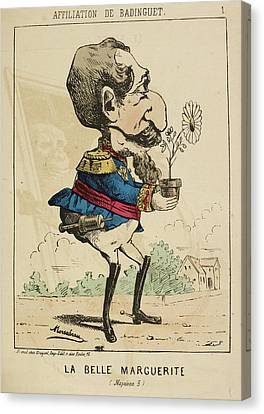 French Caricature - La Belle Marguerite Canvas Print by British Library