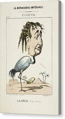 French Caricature - La Grue Canvas Print by British Library