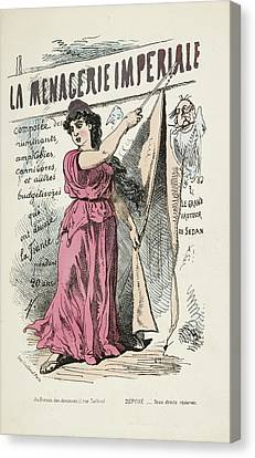 French Caricature- La Menagerie Imperiale Canvas Print by British Library