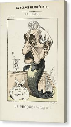 French Caricature - Le Phoque Canvas Print by British Library
