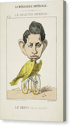 French Caricature - Le Serin Canvas Print by British Library