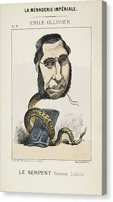 French Caricature - Le Serpent Canvas Print by British Library