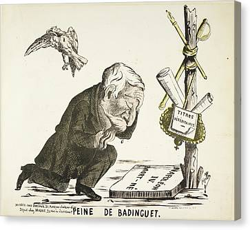 French Caricature - Peine De Badinguet Canvas Print by British Library