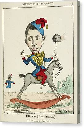 Pour Canvas Print - French Caricature - Titi-louis by British Library