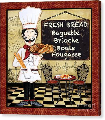 French Chef-a Canvas Print
