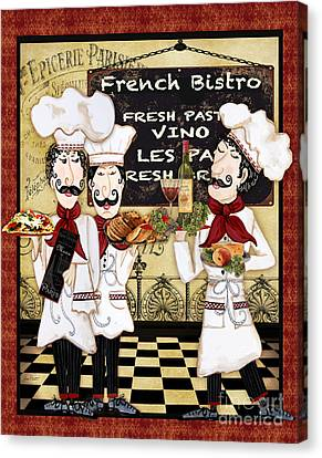 Vino Canvas Print - French Chefs-bistro by Jean Plout