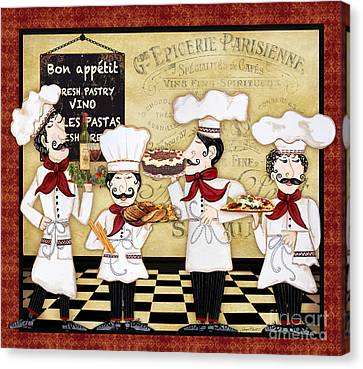 French Chefs-bon Appetit Canvas Print by Jean Plout