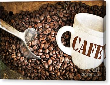 French Coffee Canvas Print by Delphimages Photo Creations