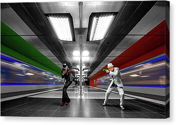 Metro Canvas Print - French Connection by Joe Plasmatico