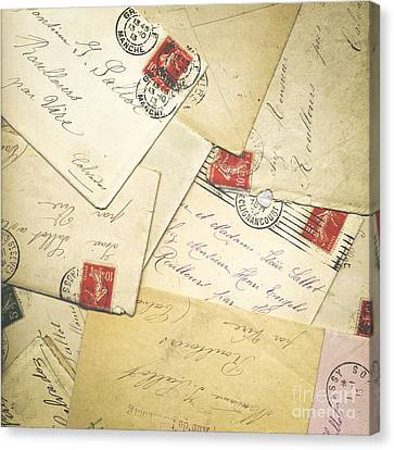 French Correspondence From Ww1 #1 Canvas Print by Jan Bickerton