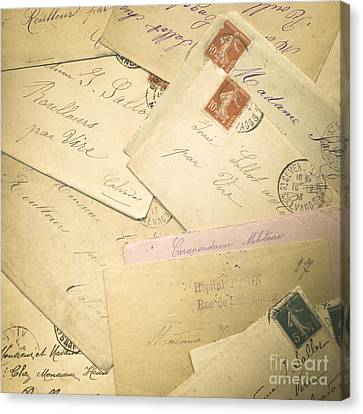 French Correspondence From Ww1 #2 Canvas Print by Jan Bickerton