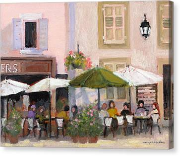 French Country Cafe Canvas Print by J Reifsnyder