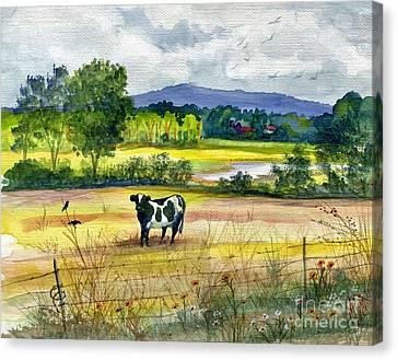 Fence Row Canvas Print - French Creek Farm by Marilyn Smith