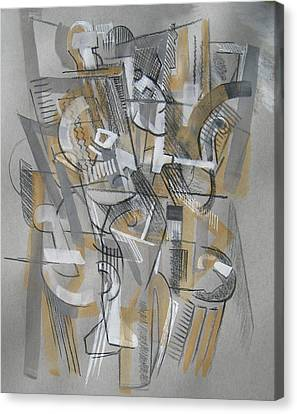 Canvas Print featuring the digital art French Curves 1 by Clyde Semler