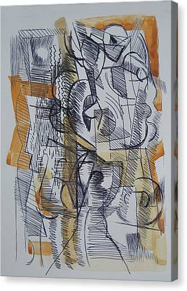 Canvas Print featuring the digital art French Curves 2 by Clyde Semler