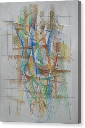 Canvas Print featuring the digital art French Curves 3 by Clyde Semler
