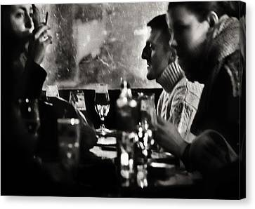 French Drinks Canvas Print by Michel Verhoef
