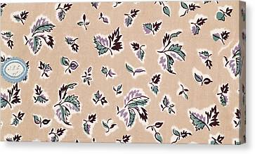 French Fabrics First Half Of The Nineteenth Century 1800 Canvas Print by Liszt Collection