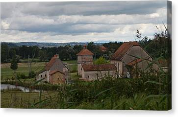 French Farm House Canvas Print