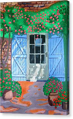 French Farm Yard Canvas Print by Magdalena Frohnsdorff