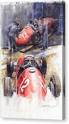 French Gp 1952 Ferrari 500 F2 Canvas Print by Yuriy  Shevchuk