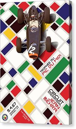 French Grand Prix 1967 Circuit Jean Behra Canvas Print by Georgia Fowler