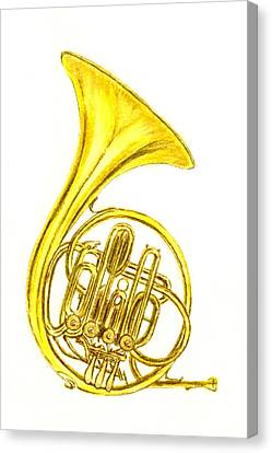 French Horn Canvas Print by Michael Vigliotti