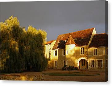French House At Sunset Canvas Print