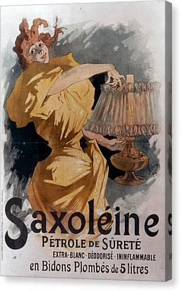 French Lamp Oil Ad, 1895 Canvas Print by Granger