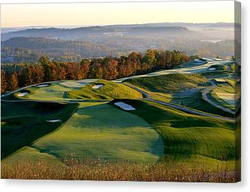Southern Indiana Canvas Print - French Lick Resort Dye Course by Ken  May