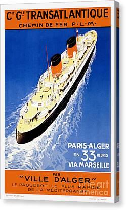 Nostalgia Canvas Print - French Line Vintage Travel Poster by Jon Neidert