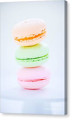 French  Macarons Cookies Canvas Print by Edward Fielding