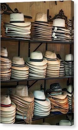 French Market Hats Canvas Print by Brenda Bryant